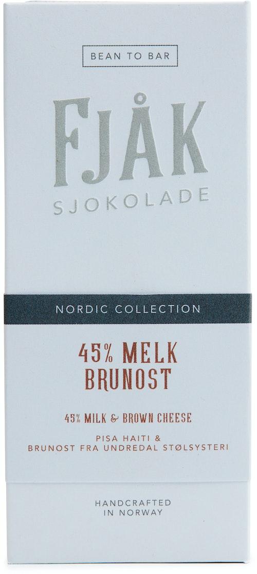 Fjåk 45% Melk &  brunostsjokolade 53 g