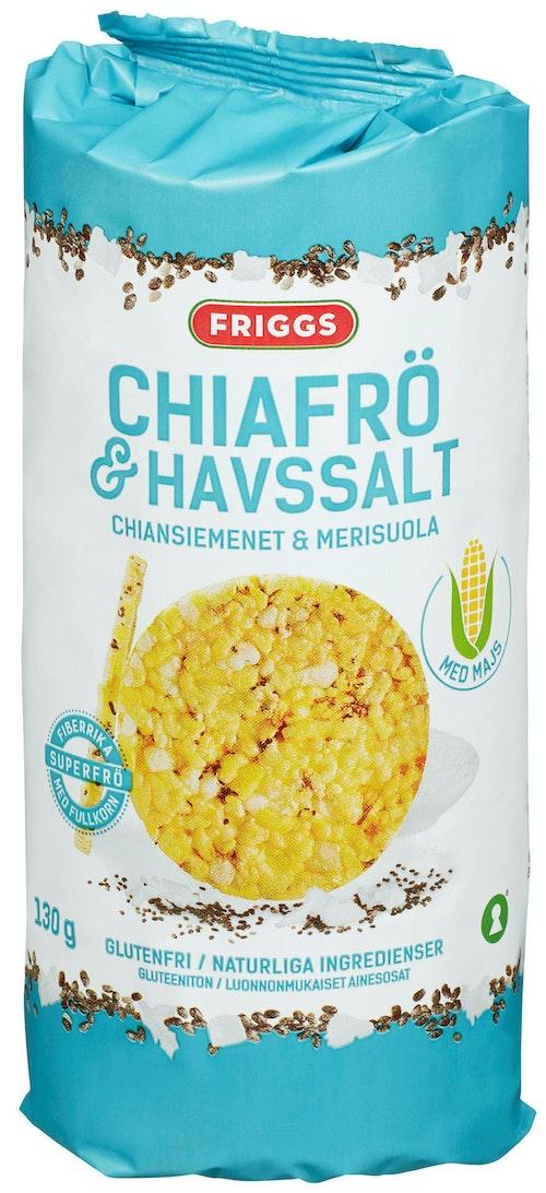 Friggs Maiskaker Chia & Havsalt 130 g