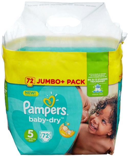 Pampers Pampers Baby Dry Str.5 11-23kg, 72 stk