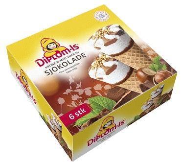 Diplom-Is Krone-Is Sjokolade 6 stk, 750 ml