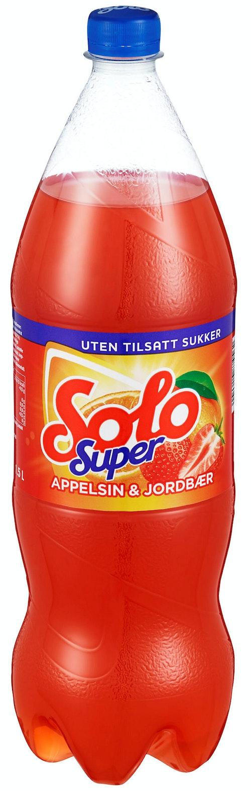 Solo Solo Super Appelsin & Jordbær 1,5 l
