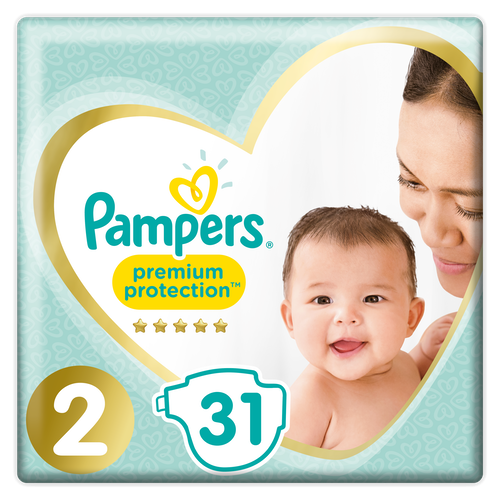 Pampers Pampers Premium Protection New baby Str.2 4-8kg, 31 stk