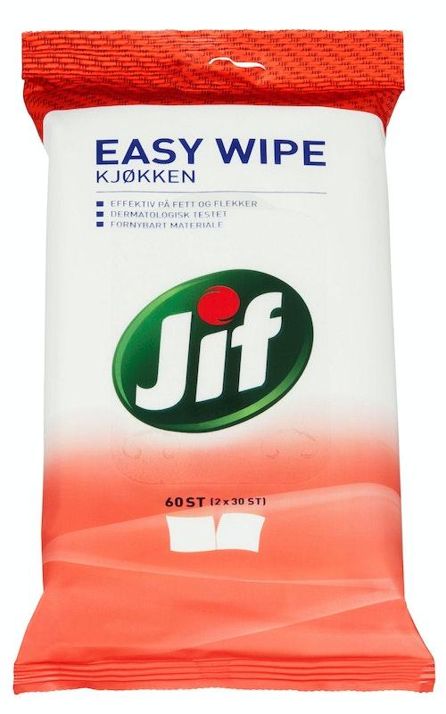 Jif Easy Wipe Kjøkken, 60 stk