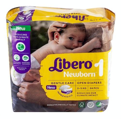 Libero Libero Newborn Str.1 2-5 kg, 24 stk
