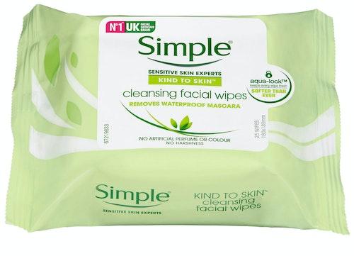 Simple Renseservietter Kind to Skin, 25 stk