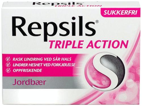 Repsils Halstabletter Jordbær sukkerfri, 62 g