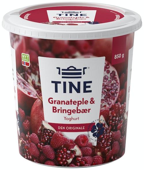 Tine Yoghurt Med Granateple & Bringebær, 850 g