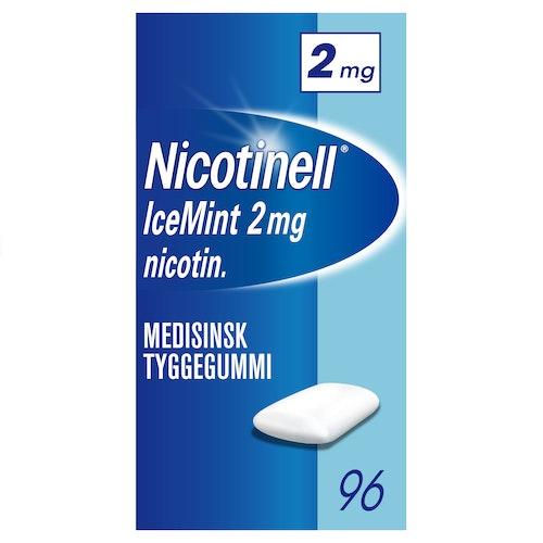 Nicotinell Nicotinell Tyggegummi Icemint 2 mg, 96 stk