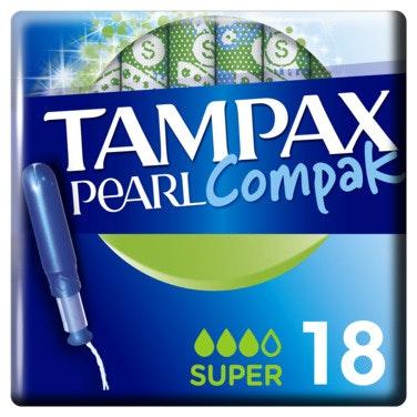 Tampax Tampax Tampong Compak Pearl Super, 18 stk