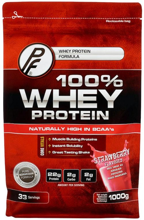 Proteinfabrikken 100% Whey Protein Jordbær 1 kg