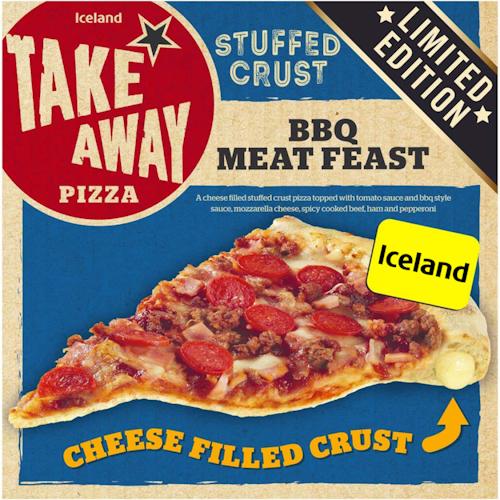 Iceland Pizza BBQ Meat Feast Ostefylt Skorpe, 475 g
