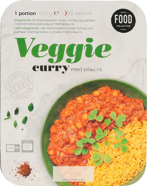 Food Collective Veggie Curry 450 g