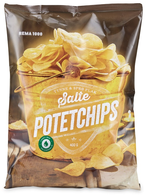 REMA 1000 Potetchips Classic Salt 400 g