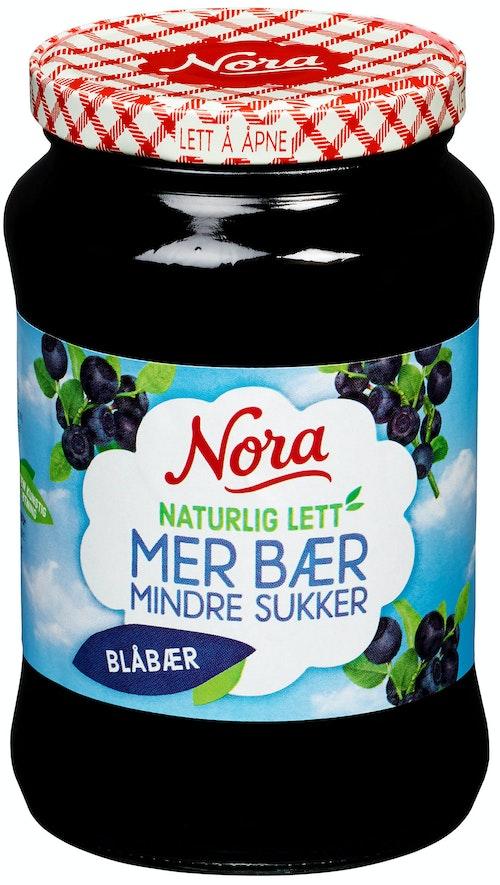 Nora Blåbærsyltetøy Naturlig Lett, 540 g