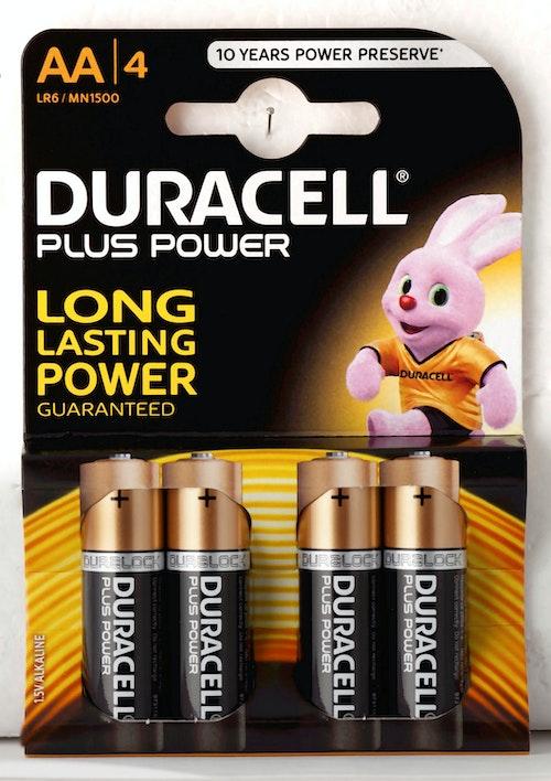 Duracell Batterier Plus Power AA, 4 stk