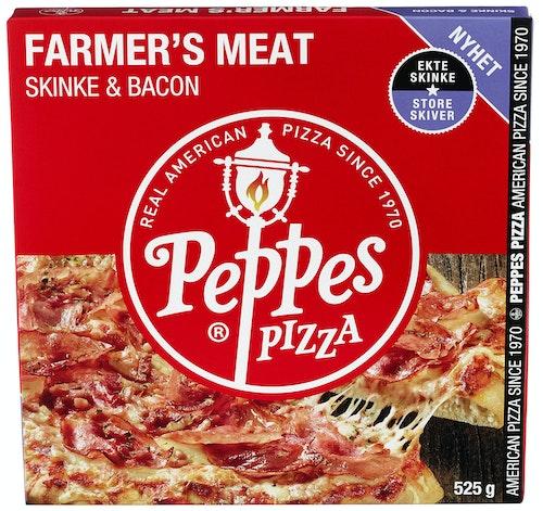 Peppes Pizza Peppes Pizza Farmer's Meat Skinke & Bacon 525 g