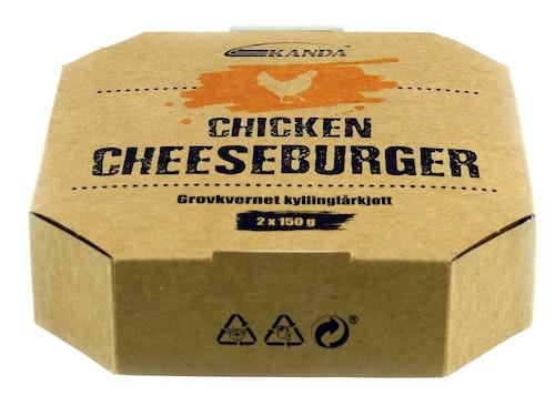 Kanda Chicken Cheeseburger 2 Stk, 300 g