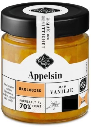 Kolonihagen Syltetøy Appelsin Økologisk, 230 g
