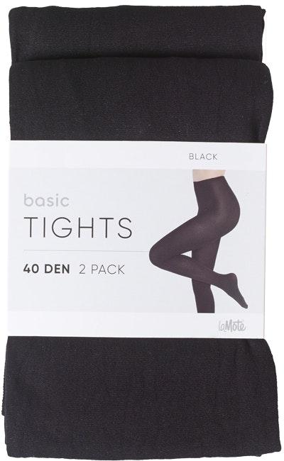Pierre Robert Basic Tights 40 DEN Black, str. 36-40, 2 stk