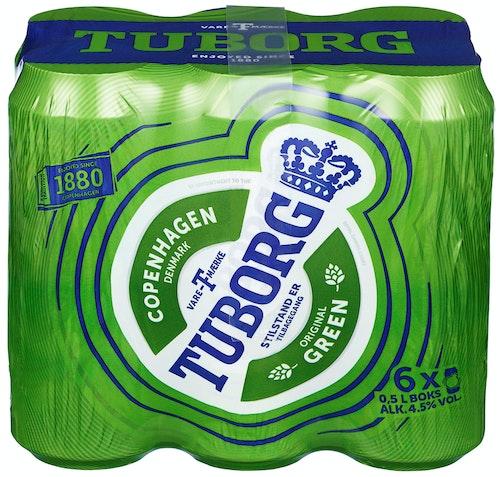 Tuborg Tuborg Boks, 6x0,5l, 3 l