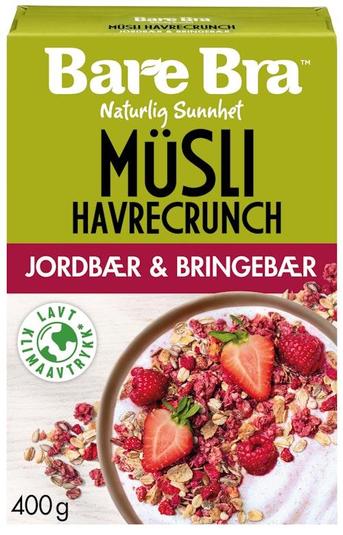 Bare Bra Jordbær & Bringebær Müsli 400 g