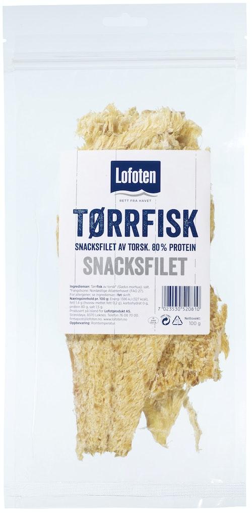 Lofoten Tørrfisksnacks Filet 100 g
