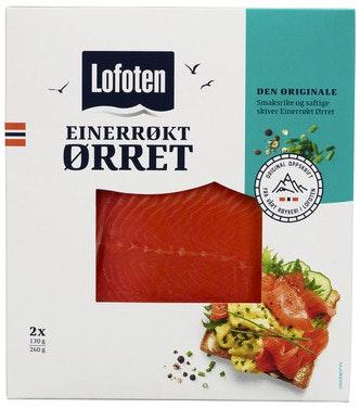 Lofoten Einerrøkt Ørret Skivet 260 g