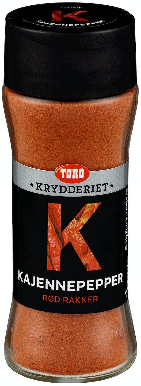 Toro Kajennepepper Tørr, 62 g