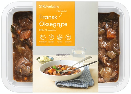 Gastro Kitchen Fransk Oksegryte Fiks ferdig, 2 Porsjoner, 800 g