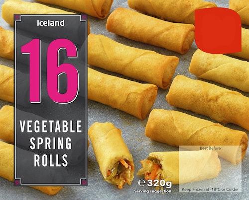 Iceland Vårruller med Grønnsaker 16 stk, 320 g