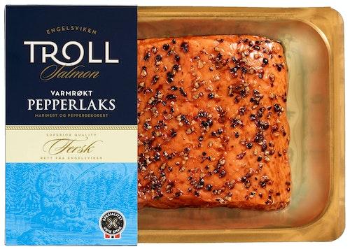 Troll Salmon Varmrøkt Pepperlaks ca. 280 g