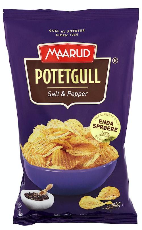 Maarud Potetgull Classic Salt & Pepper, 250 g