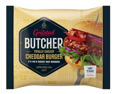 Grilstad Butcher Burger Cheddar 2 stk