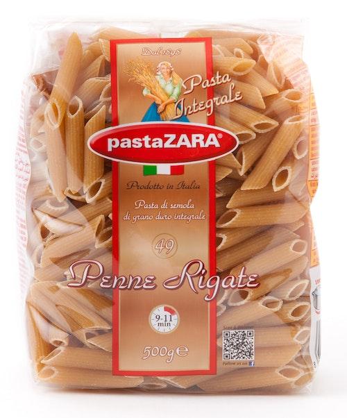 Pasta Zara Penne Fullkorn Rigate Intergrale, 500 g