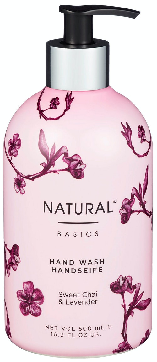 Natural Basics Moisturising Hand Wash, Sweet Chai & Lavender 500 ml