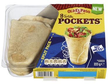 Old El Paso Old El Paso Tortilla Pockets 8 stk, 223 g