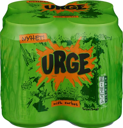 Coca-Cola Urge Boks 4 x 0,33l, 1,32 l