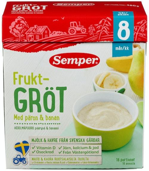 Semper Fullkorngrøt Pære & Banan Fra 8 mnd, 480 g