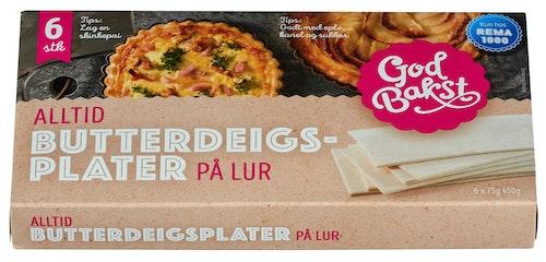 God Bakst Butterdeigsplater 450 g