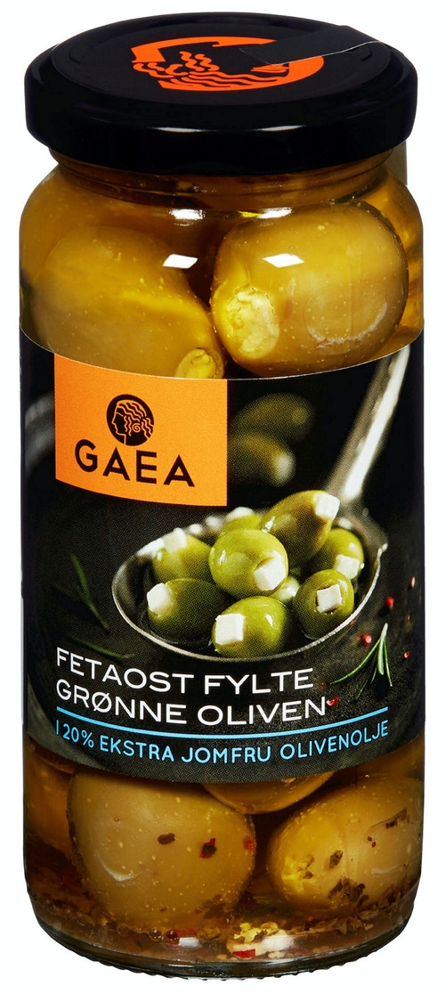 Gaea Fetaostfylte Grønne Oliven 230 g