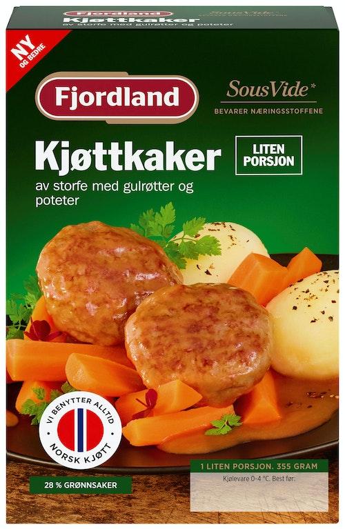 Fjordland Kjøttkaker med Gulrøtter og Poteter Liten Porsjon, 355 g