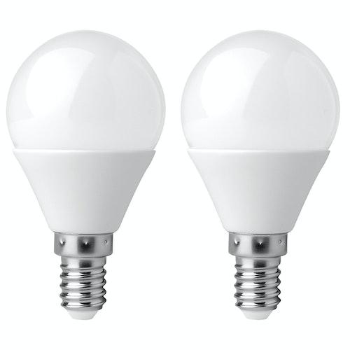Clas Ohlson LED-pære E14 2w, Illum, 136lm, 2 stk