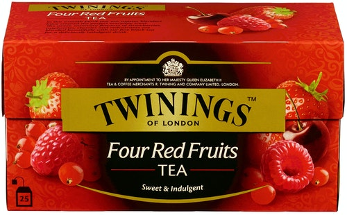 Twinings Four Red Fruits Tea 25 poser, 25 stk