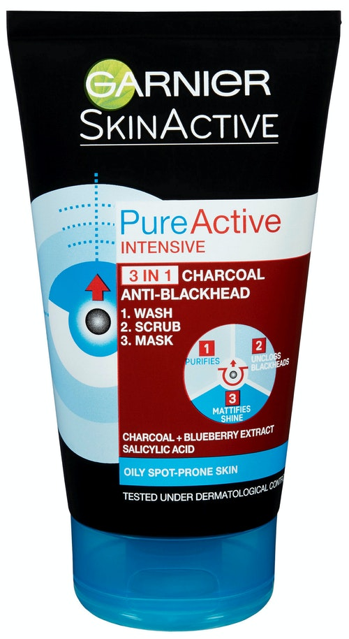 Garnier Pure Active 3in1 Intensive Charcoal 1 stk