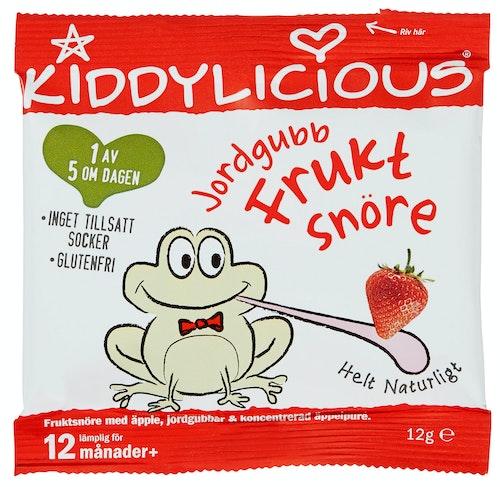 Kiddylicious Fruktsnøre Jordbær Fra 12 mnd, 12 g