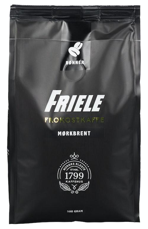 Friele Friele Frokostkaffe Mørkbrent hele bønner, 500 g