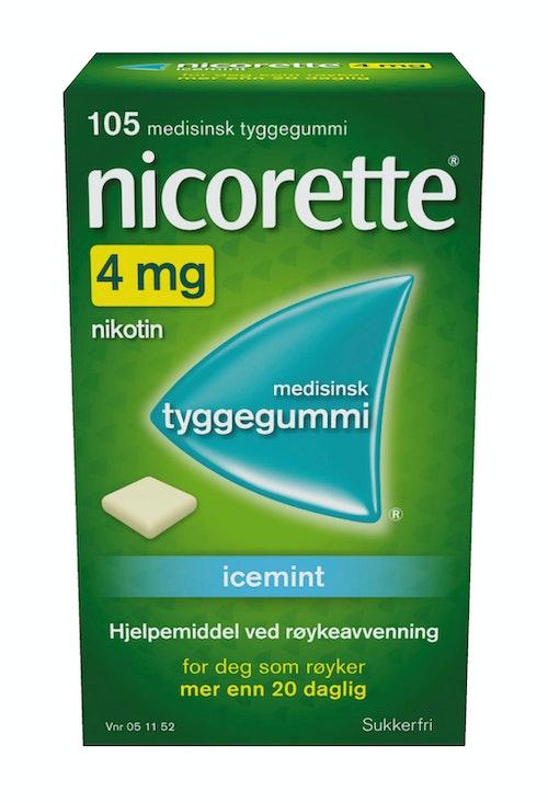 Nicorette Nicorette Icemint 4mg, 105 stk