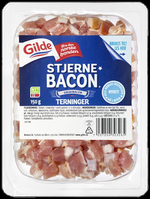 Gilde Stjernebacon i Terninger 150 g