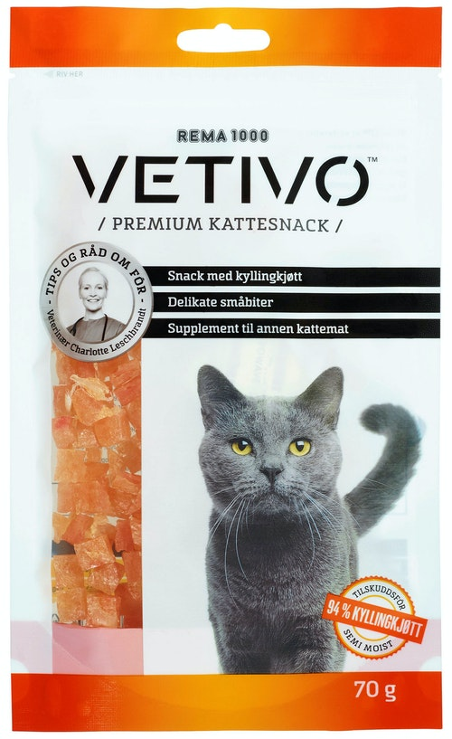 Vetivo Kyllingsnacks til Katt 70 g