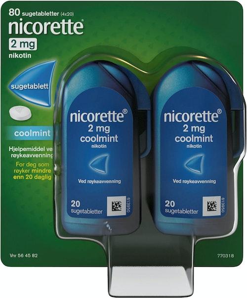 Nicorette Nicorette Sugetabletter 2mg, 80 stk